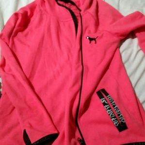 Victoria secret run away hoodie jacket small new!